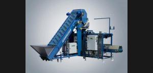 De afweegmachine is ook te combineren met een geautomatiseerde inpakmachine.